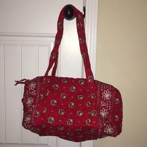 Vera Bradley red bandana small duffle bag